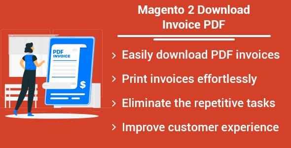 Magento 2 Download Invoice PDF