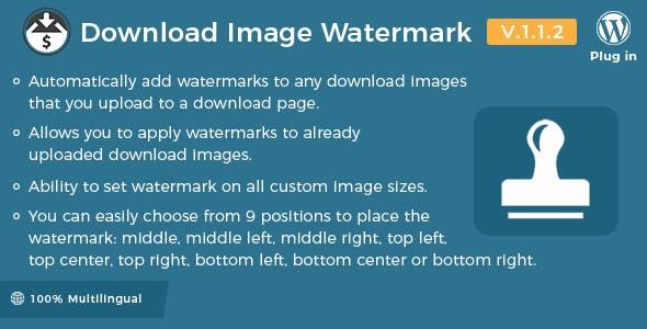 Easy Digital Downloads - Download Image Watermark