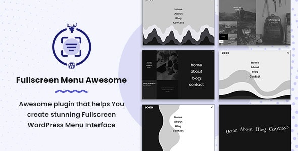 Fullscreen WordPress Menu - FullScreen Menu Awesome - CodeCanyon Item for Sale