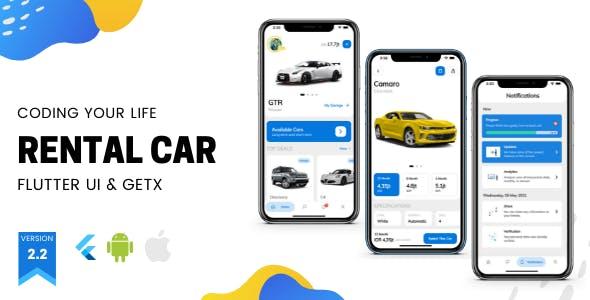 Car Rental App v2.2 - Flutter UI Kit using GetX