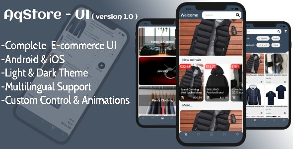 AQStore UI - Xamarin Forms E-commerce UI - CodeCanyon Item for Sale