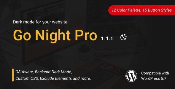 Go Night Pro | Dark Mode / Night Mode WordPress Plugin - CodeCanyon Item for Sale