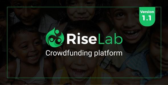 RiseLab - Crowdfunding Platform - CodeCanyon Item for Sale