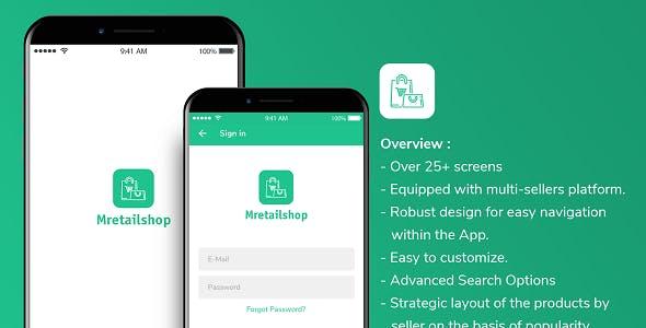 Multi-seller eCommerce MRetailshop iOS Template