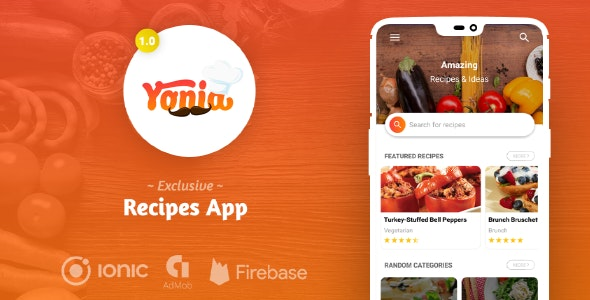 Yonia - Ultimate Ionic Recipes App + Admin Panel - CodeCanyon Item for Sale