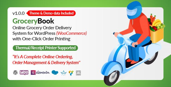 GroceryBook | Online Grocery Shopping & Delivery Management System for WordPress