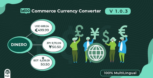 Dinero - WooCommerce Currency Converter - WordPress Plugin - CodeCanyon Item for Sale