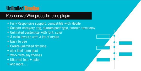 Unlimited Timeline Responsive Wordpress plugin - CodeCanyon Item for Sale