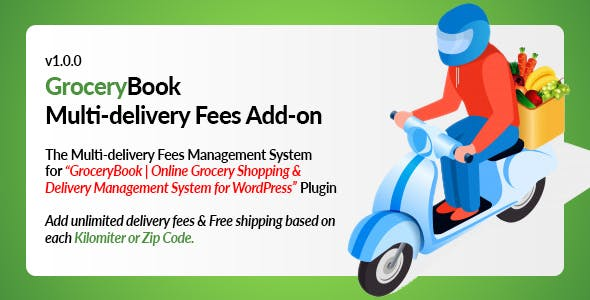 GroceryBook Multidelivery Fees Add-on