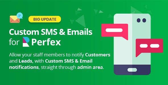 Custom SMS & Email Notifications for Perfex CRM