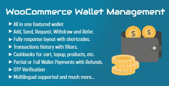 WooCommerce Wallet Management   All in One