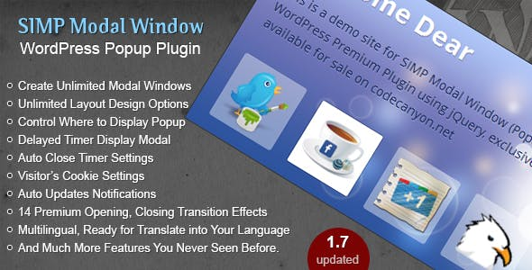 Simp Modal Window - WordPress Plugin