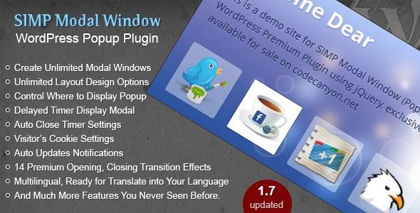 Simp Modal Window - WordPress Plugin - CodeCanyon Item for Sale