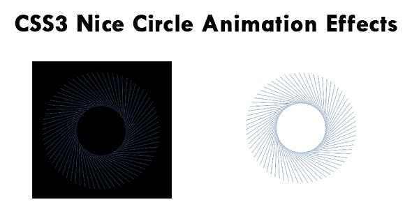 CSS3 Nice Circle Animation Effects