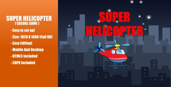 Super Helicopter | Construct 2