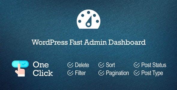 WordPress Fast Admin Dashboard