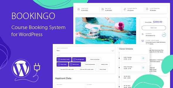 Bookingo - Course Booking System for WordPress