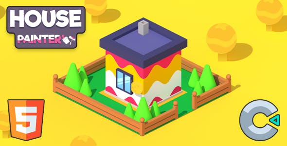 House Painter - (HTML5 Game - Construct 3)
