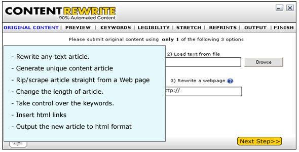 Content Rewrite