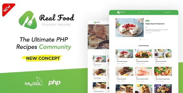 RealFood   The Ultimate PHP Recipes & Community Food - CodeCanyon Item for Sale
