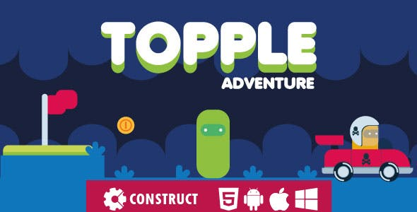 Topple Adventure - HTML5 Mobile Game