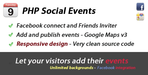 Eventoo PHP Social Events - CodeCanyon Item for Sale