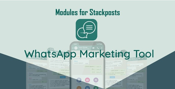 Whatsapp Marketing Tool Module For Stackposts v1.0