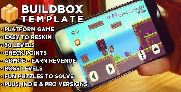 8 Bit Fox - Platform Game Buildbox Template - CodeCanyon Item for Sale