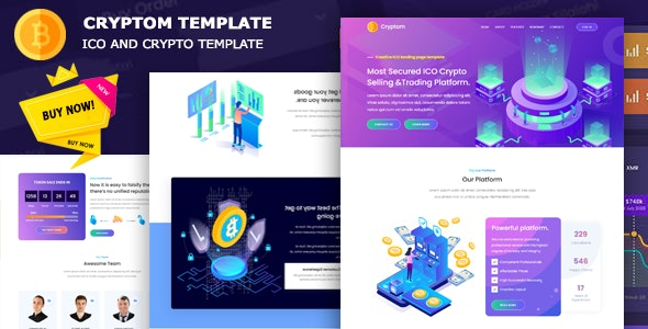 Cryptom - ICO and Crypto Template - CodeCanyon Item for Sale