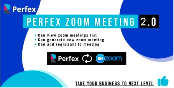 Perfex Zoom Meeting Module - CodeCanyon Item for Sale