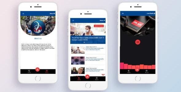 Radio App | Ionic 5 | Angular | News App | Radio + News in one - CodeCanyon Item for Sale