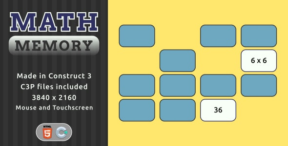 Math Memory - HTML5 Math game - CodeCanyon Item for Sale