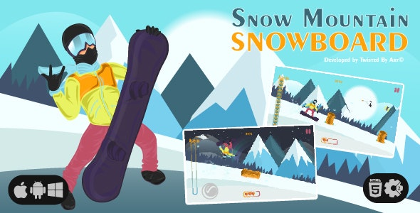 Snow Mountain Snowboard   HTML5 • Construct Game - CodeCanyon Item for Sale