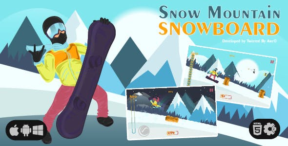 Snow Mountain Snowboard | HTML5 • Construct Game