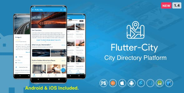 Flutter City ( Directory, City Tour Guide, Business Directory, Travel Guide, Booking ) 1.4
