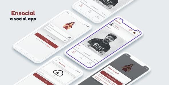 Ensocial - Firebase Social Applications, Social media app - CodeCanyon Item for Sale