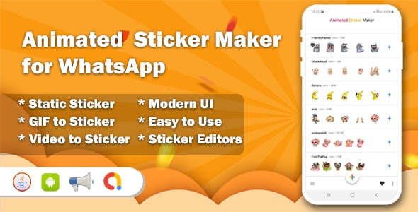 Animated Sticker Maker for WhatsApp - CodeCanyon Item for Sale