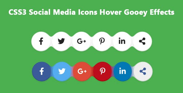 CSS3 Social Media Icons Hover Gooey Effects