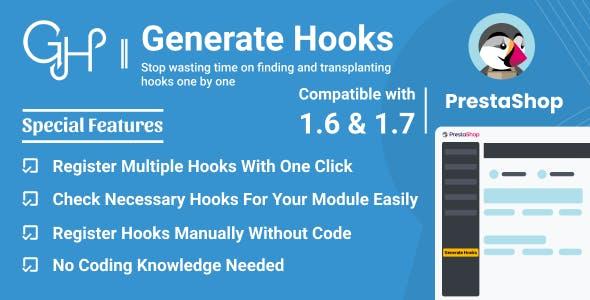 Generate Hooks for PrestaShop