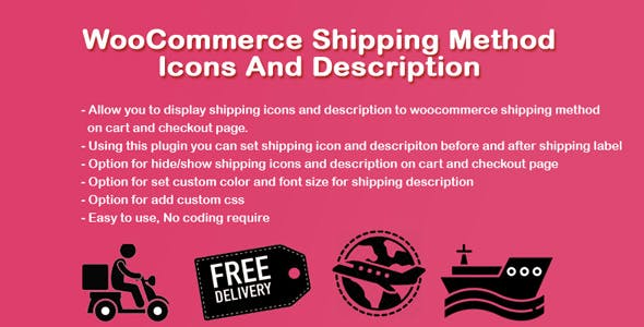 WooCommerce Shipping Icons And Description