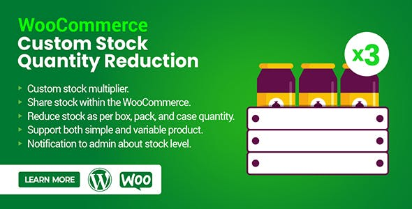 WooCommerce Custom Stock Quantity Reduction