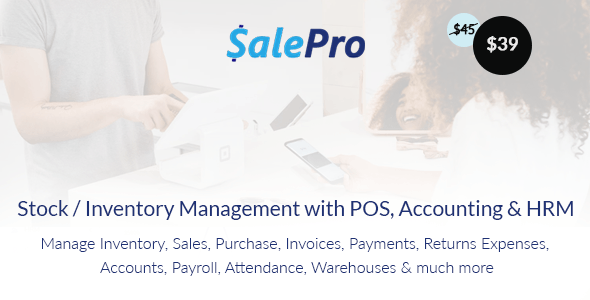 SalePro v3.5.1 – Inventory Management System with POS, HRM, Accounting