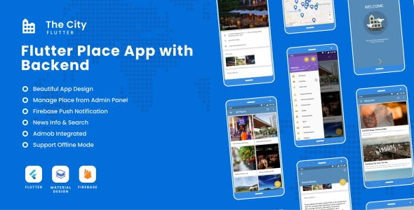 The City Flutter - Place App with Backend 1.0