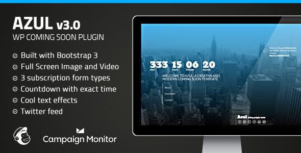 Azul - Responsive WordPress Coming Soon Plugin
