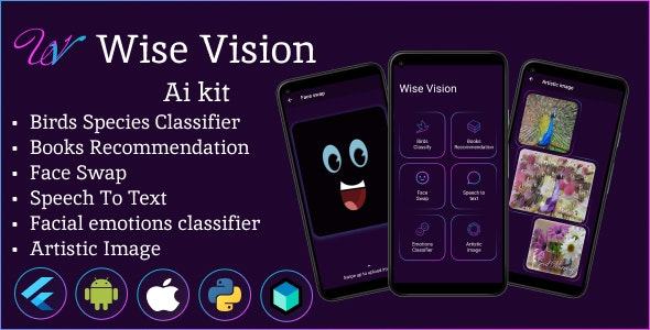 Wise Vision - Flutter AI kit - CodeCanyon Item for Sale