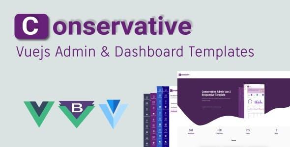 Conservative - Vuejs Admin & Dashboard Templates