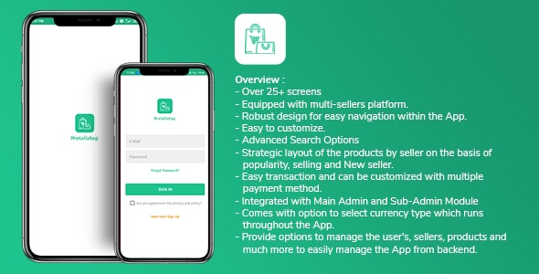 Multi-seller eCommerce MRetailshop Android Application with Main Admin and Seller SubAdmin - CodeCanyon Item for Sale