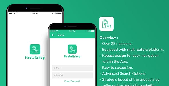 Multi-seller eCommerce MRetailshop iOS Application with Main Admin and Seller SubAdmin