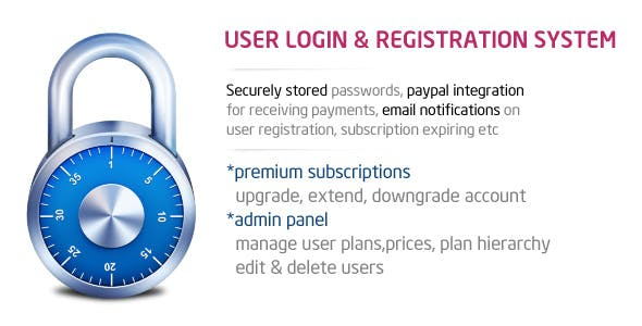 Login & Registration with Premium Membership