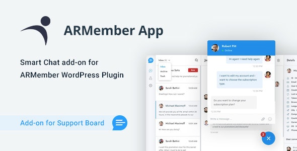 ARMember Chat & Tickets App for Support Board - CodeCanyon Item for Sale